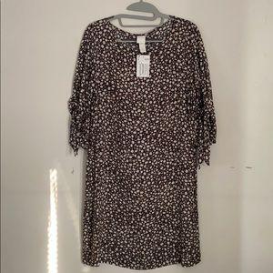 NWT H&M Brown/white Floral Dress